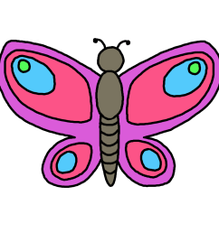 butterfly flying outline clipart clipart library free clipart images [ 1400 x 1400 Pixel ]