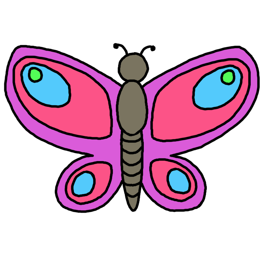 medium resolution of butterfly flying outline clipart clipart library free clipart images