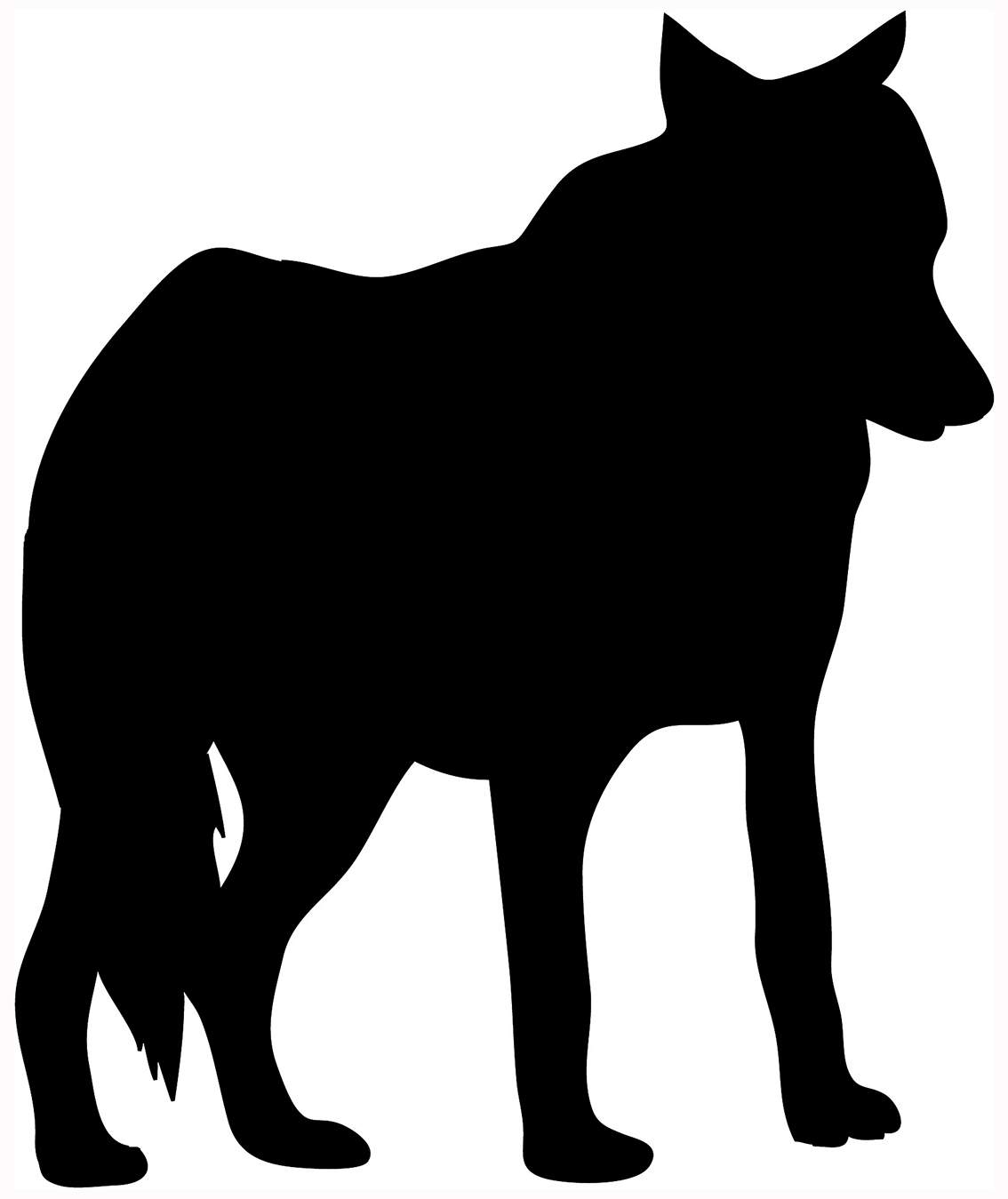 hight resolution of silhouette animal clipart library