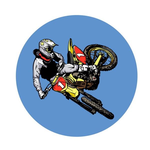 Dirt Bike Cartoon Clip Art