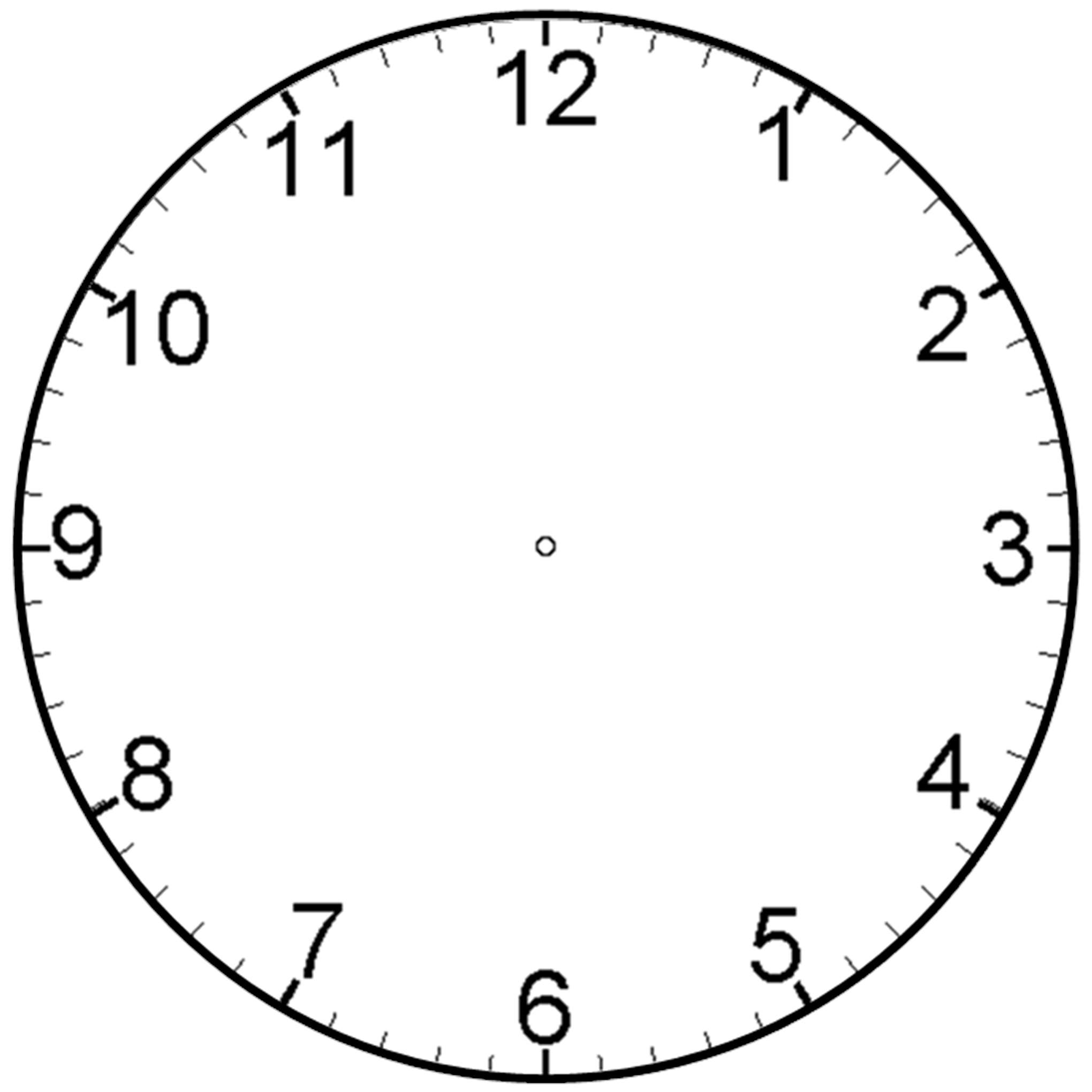 Free Blank Clock Face Printable, Download Free Clip Art