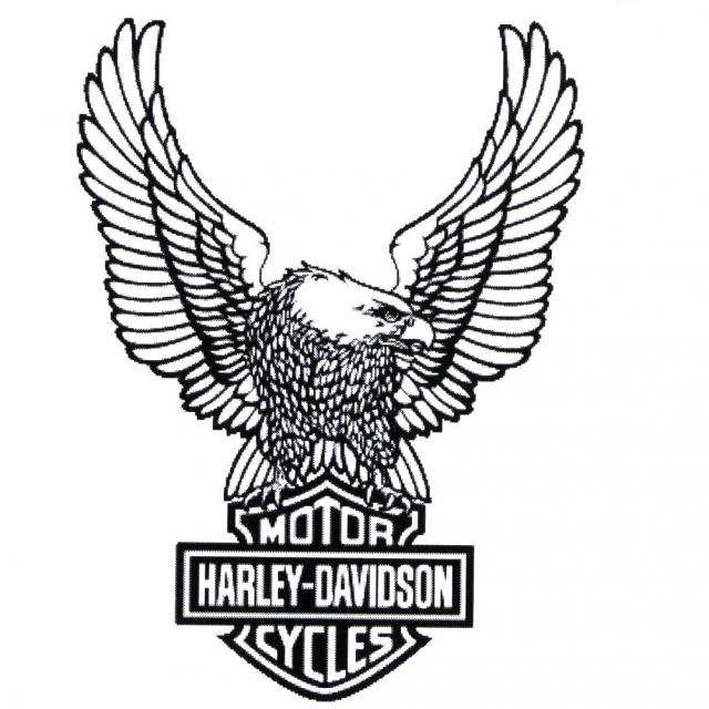 Harley Davidson Symbol Stencil