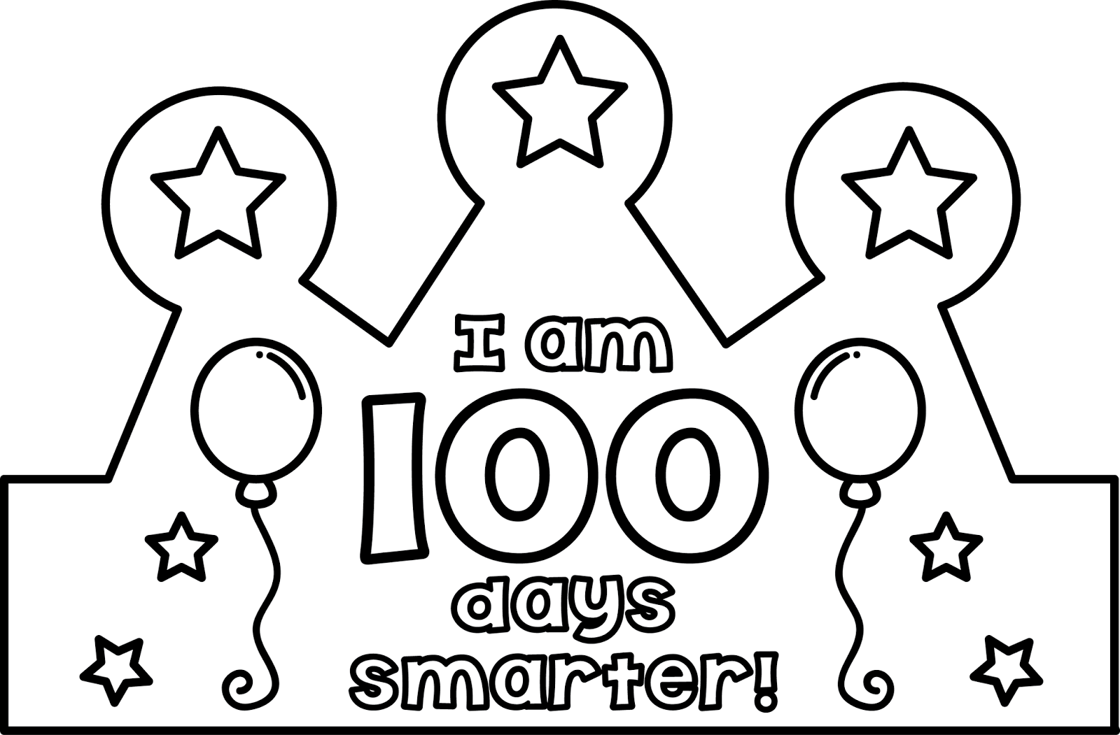 Printable 100th Day Of School Hat