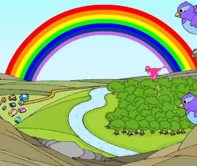 The Rainbow English Nursery Rhymes Cartoon Animated Rhymes For