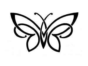 tattoo simple designs clipart butterfly celtic rose clip library