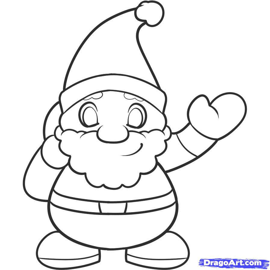 How to Draw Santa for Kids, Step by Step, People For Kids