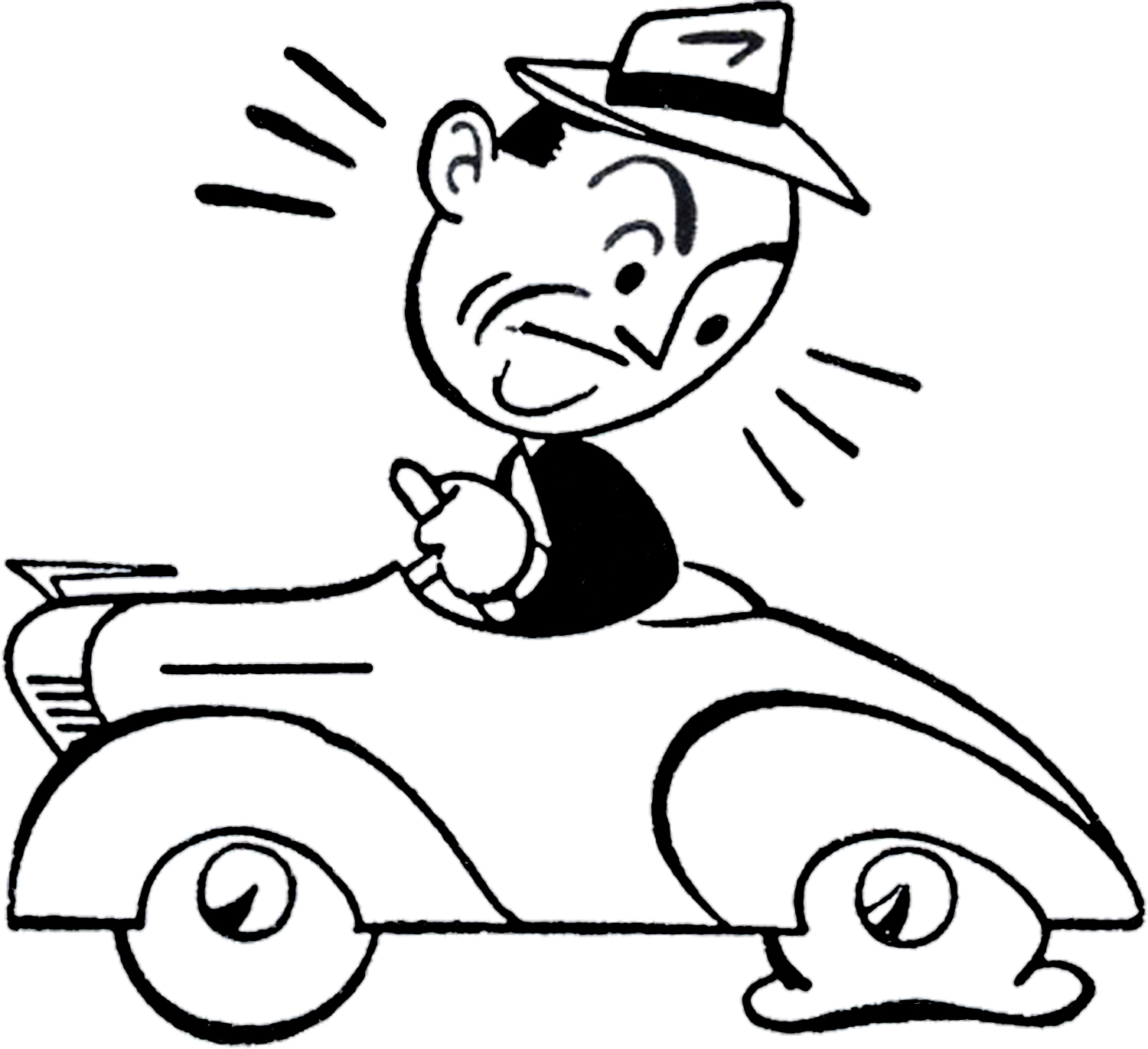 hight resolution of retro car trouble clip art the graphics fairy