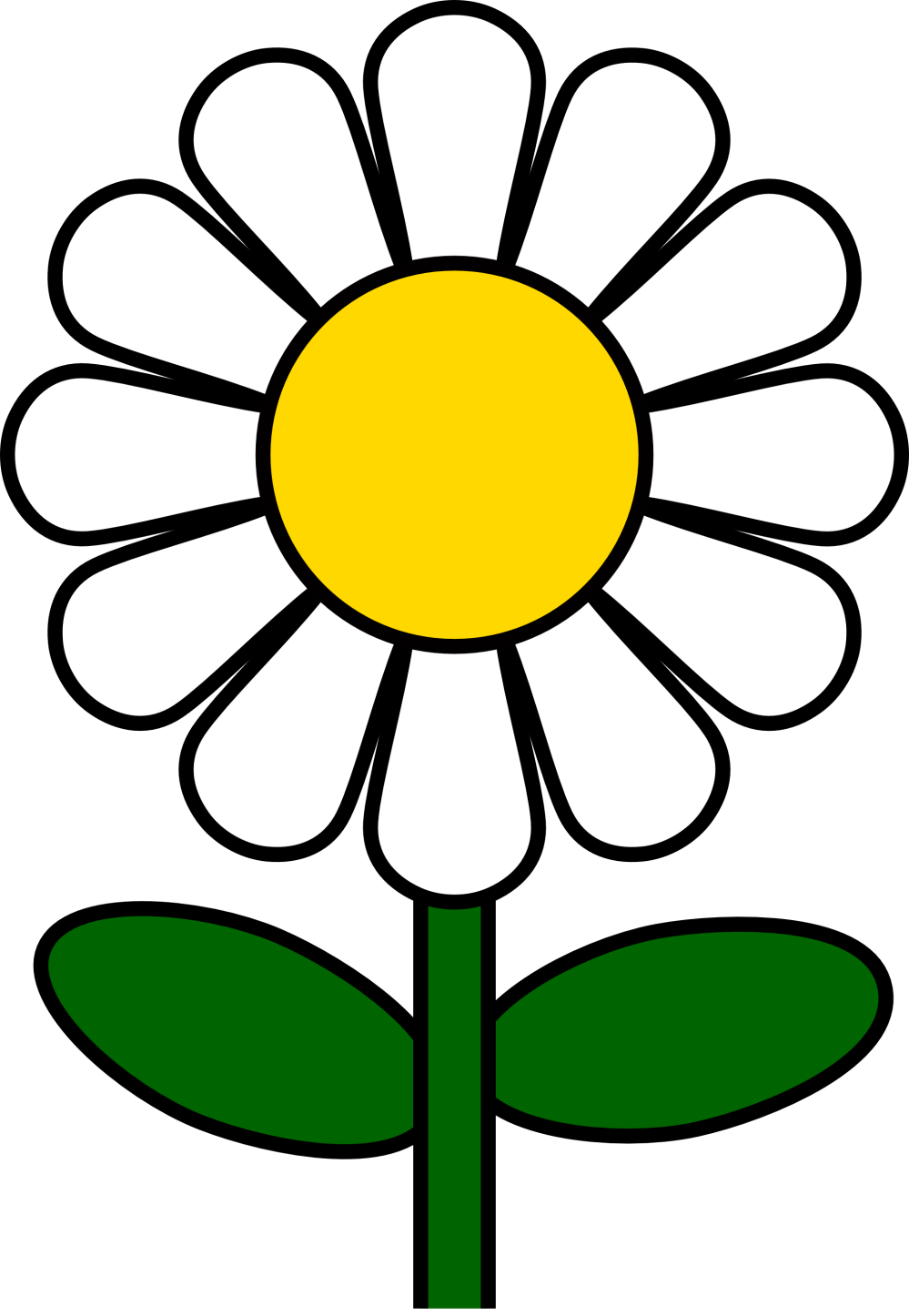 medium resolution of daisy flower clip art clipart library free clipart images