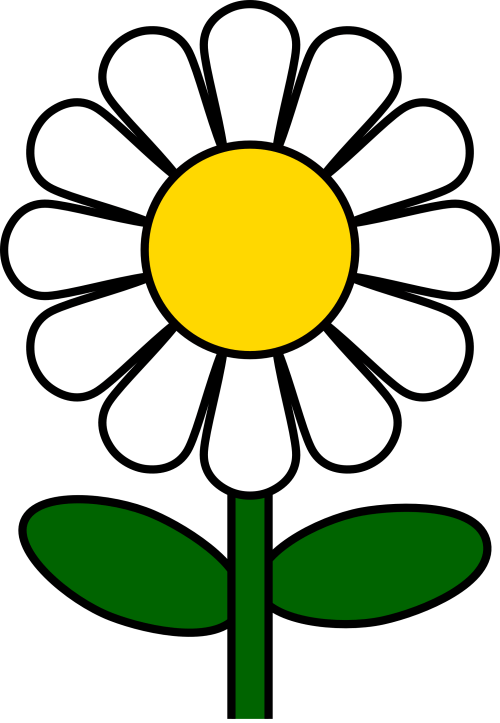 small resolution of daisy flower clip art clipart library free clipart images