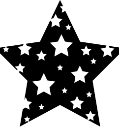shooting star clip art black and white clipart library free [ 6598 x 6383 Pixel ]