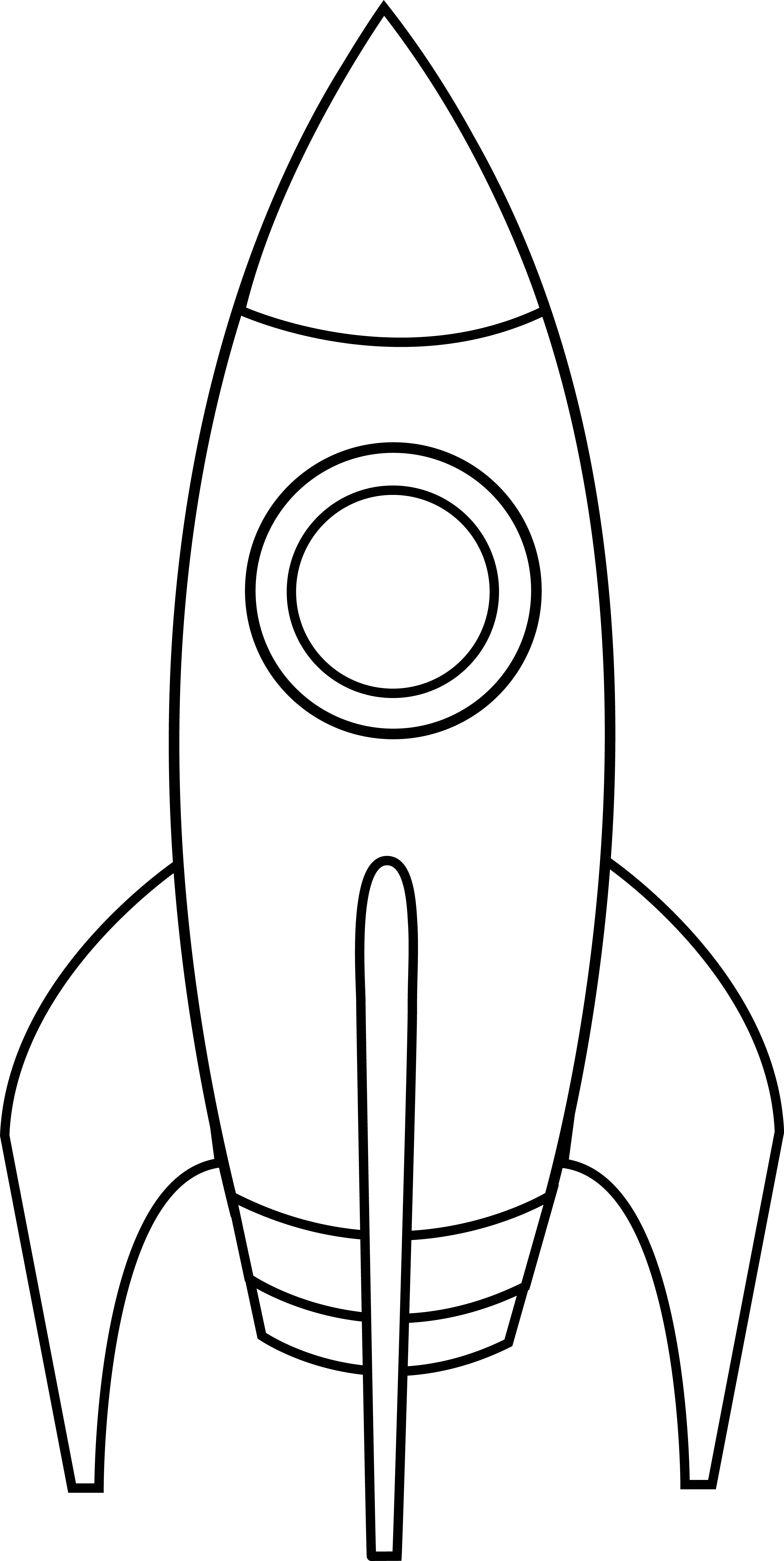 Free Rocket Ship Outline Download Free Clip Art Free