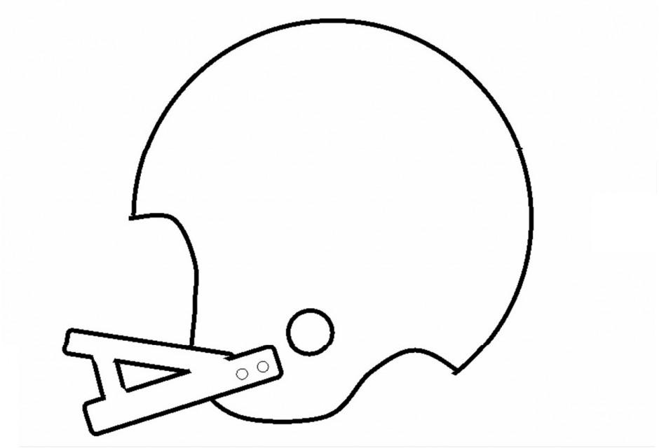 Football Helmet Stencil 155885 Football Helmet Coloring Page
