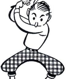 retro golf clip art funny the graphics fairy [ 1500 x 2237 Pixel ]
