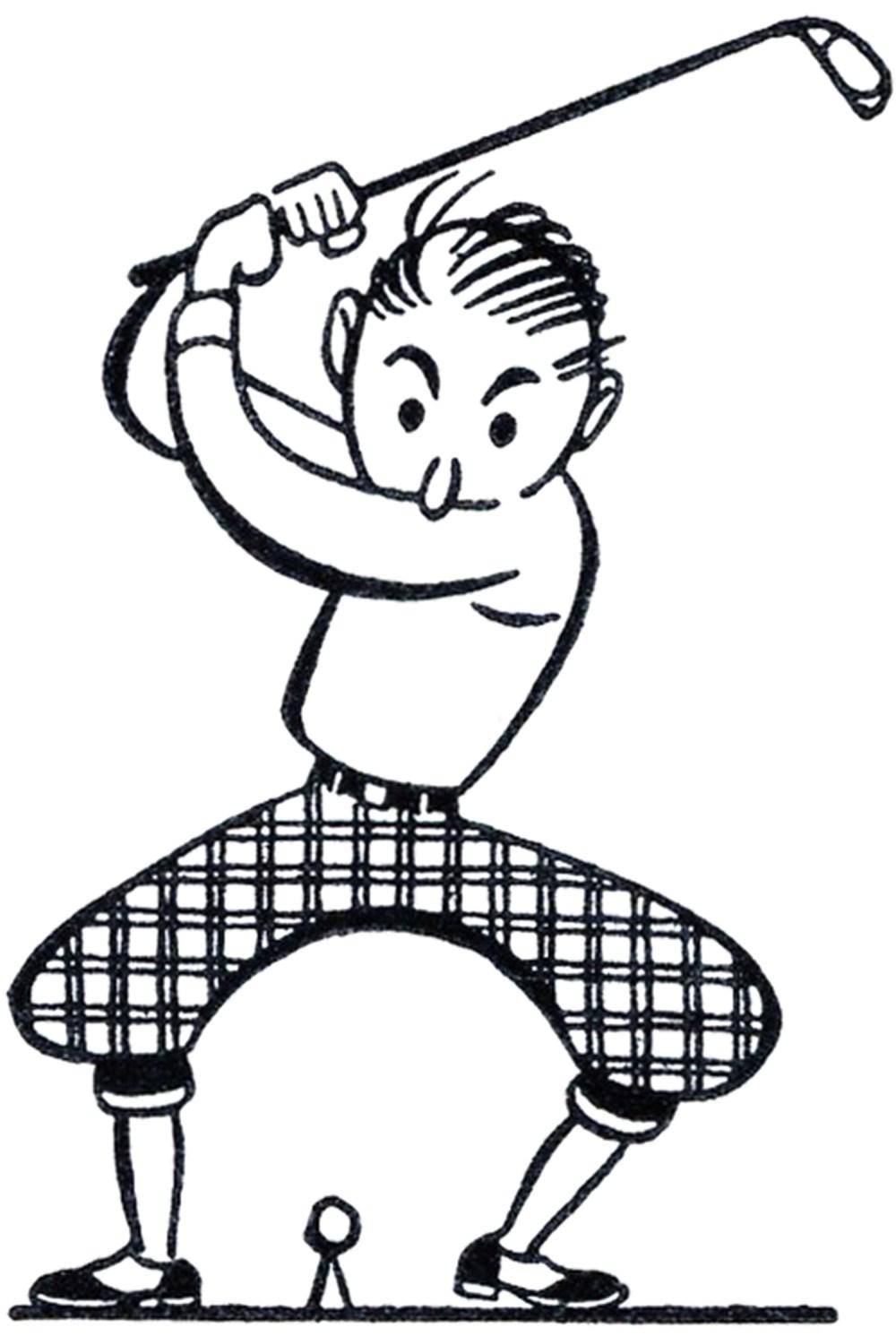 medium resolution of retro golf clip art funny the graphics fairy