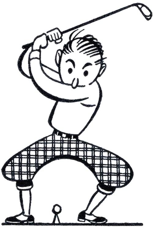 small resolution of retro golf clip art funny the graphics fairy