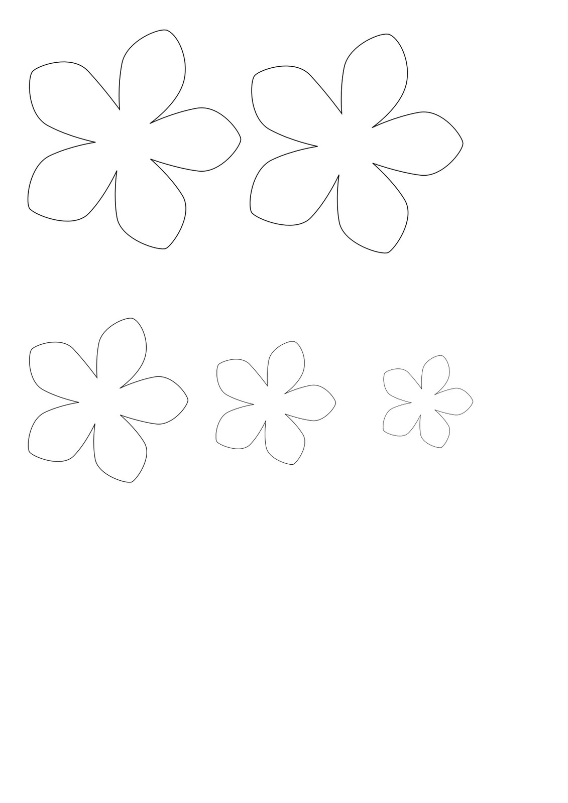 Free Flower Petal Template For Kids, Download Free Clip