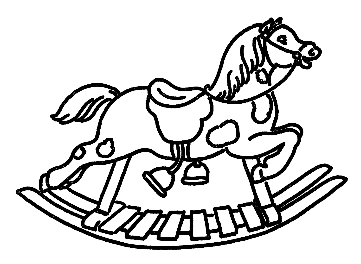 Free Rocking Horse Silhouette, Download Free Clip Art
