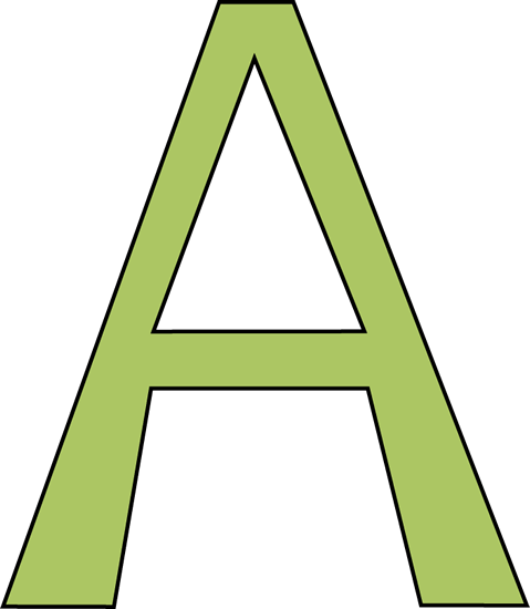 green letter a clip