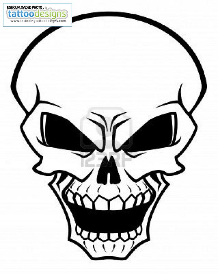 Skull Tattoo Designs Simple