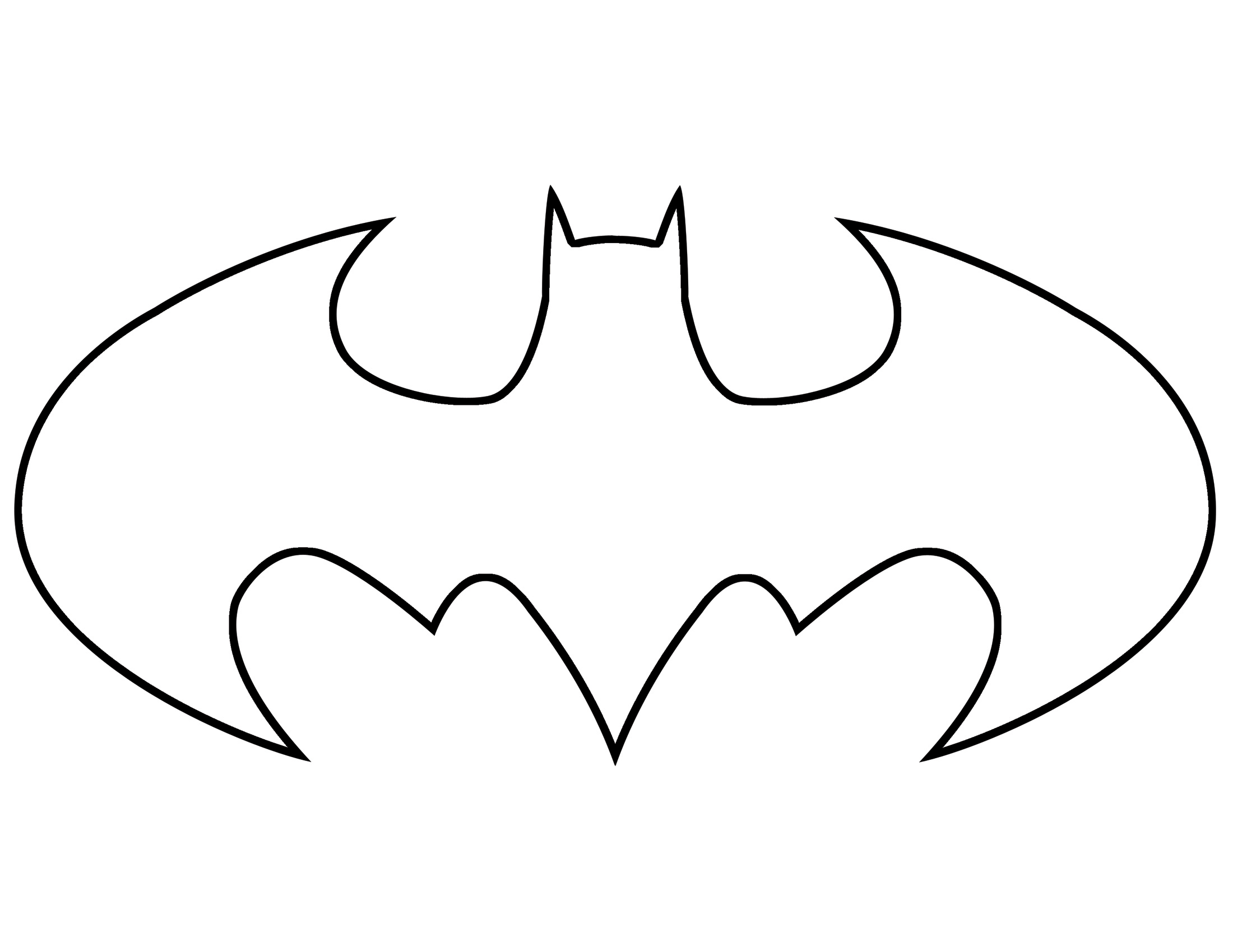 Free Batman Symbol Outline Download Free Clip Art Free
