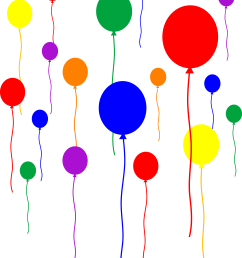 party balloons on transparent background free clip art [ 5847 x 7402 Pixel ]