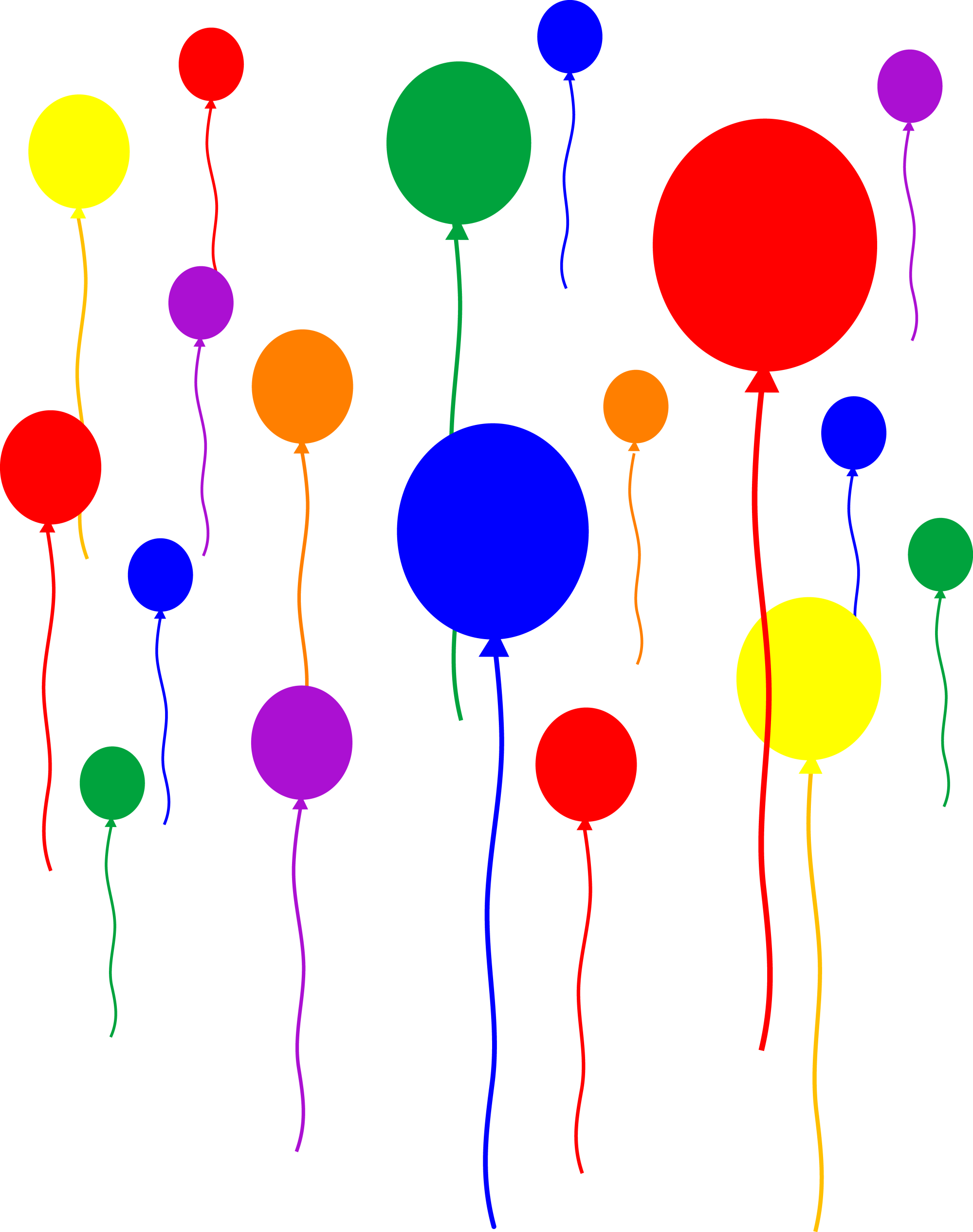 hight resolution of party balloons on transparent background free clip art