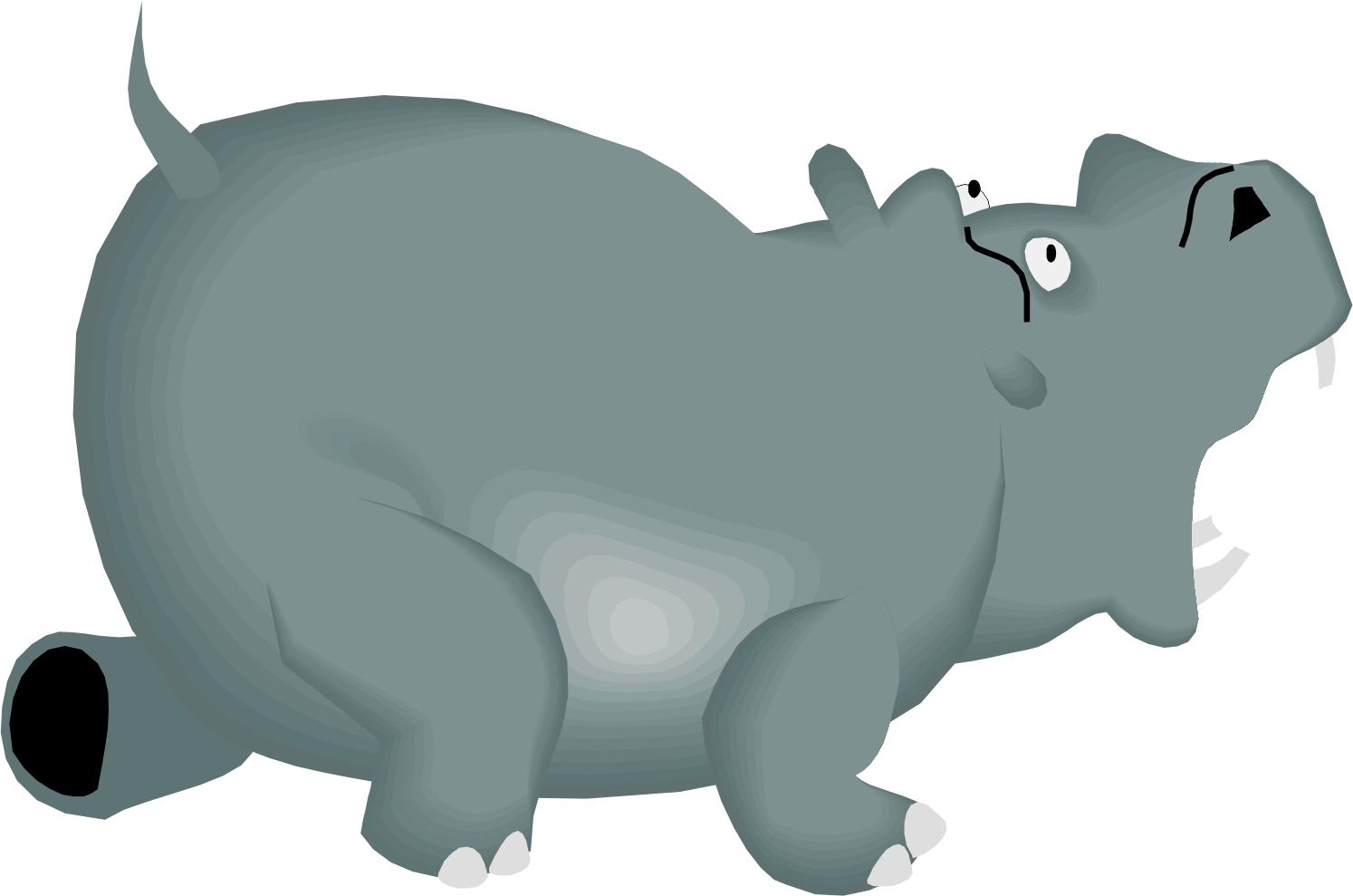 hight resolution of cartoon hippo