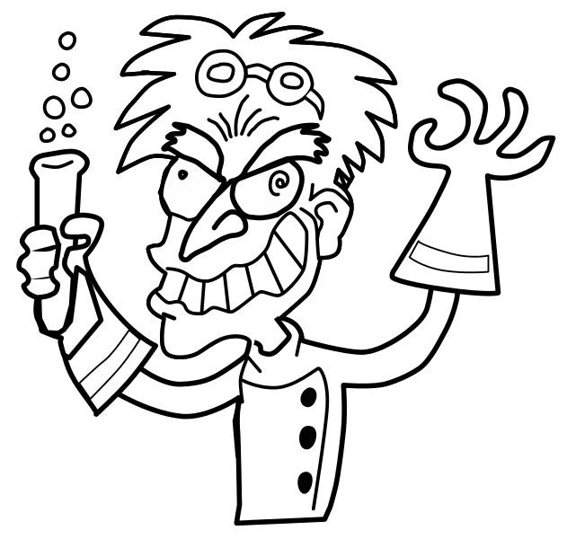 Free Mad Scientist, Download Free Clip Art, Free Clip Art