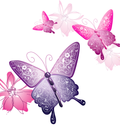 transparent butterfly decorative clipart [ 1280 x 1201 Pixel ]