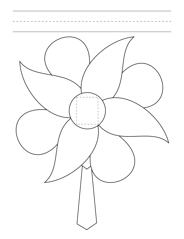 Free Blank Flower Template, Download Free Clip Art, Free
