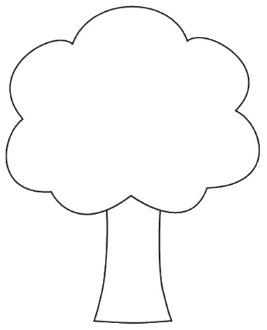 Simple Tree Clipart Black And White : simple, clipart, black, white, Outline,, Download, Clipart, Library