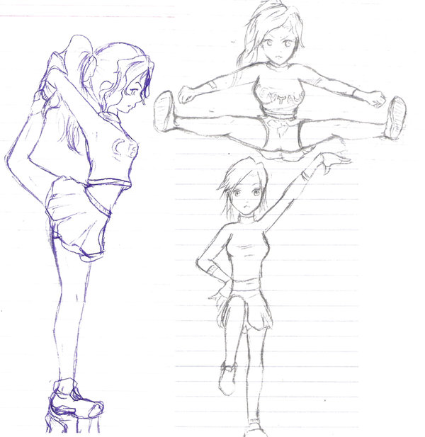 Free Cheerleading Stunt Coloring Pages, Download Free Clip