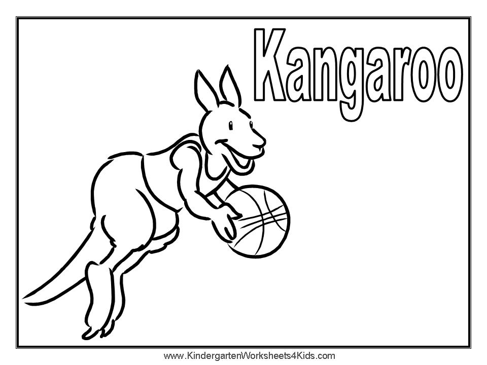 Free Kangaroo Picture To Color, Download Free Clip Art