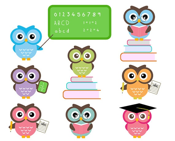 free owl school clipart