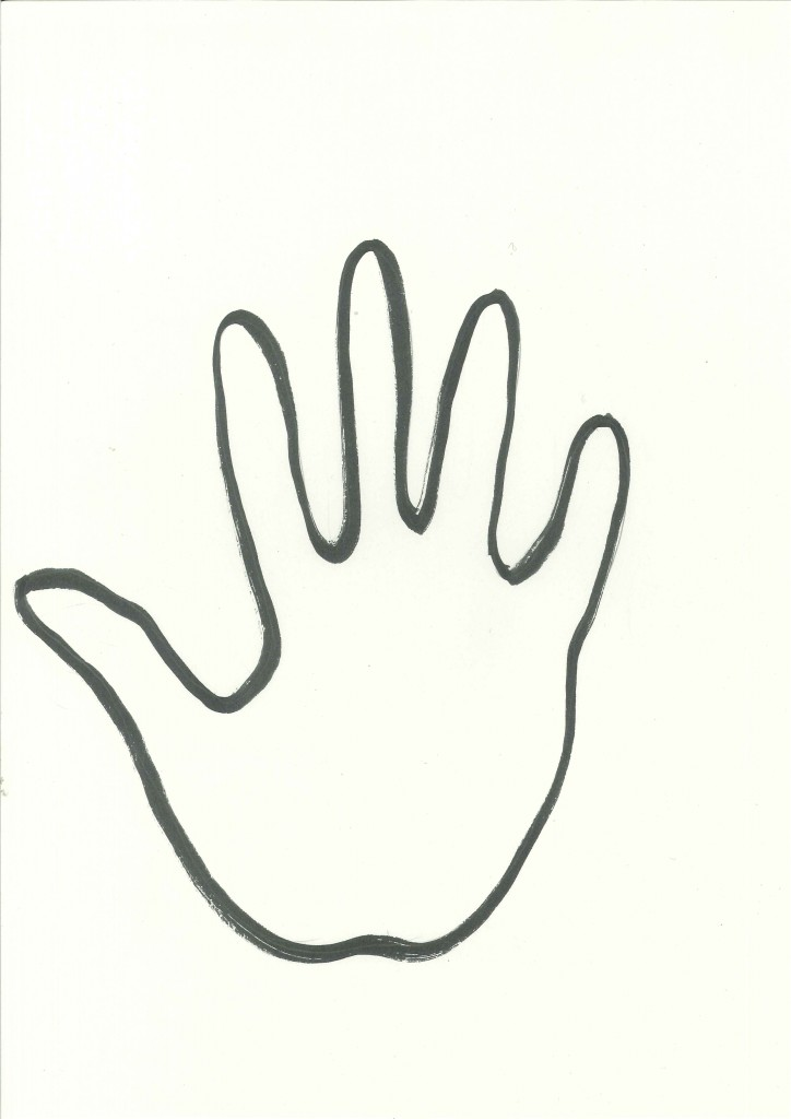Free Outline Of Hand, Download Free Clip Art, Free Clip