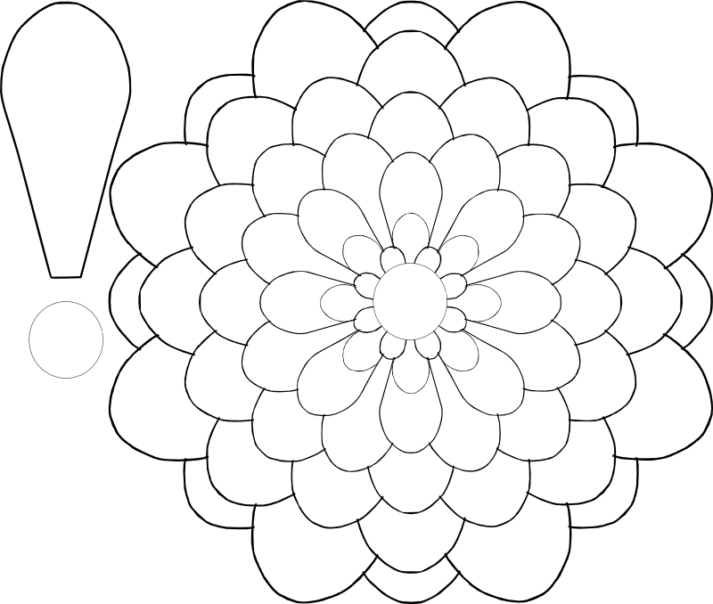 Free Six Petal Flower Template, Download Free Clip Art