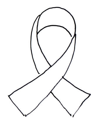 Free Breast Cancer Ribbon Outline, Download Free Clip Art