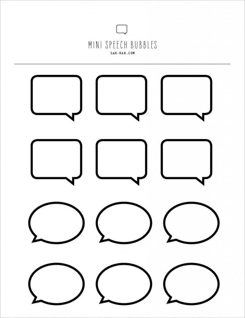 Free Speech Bubble Printable, Download Free Clip Art, Free