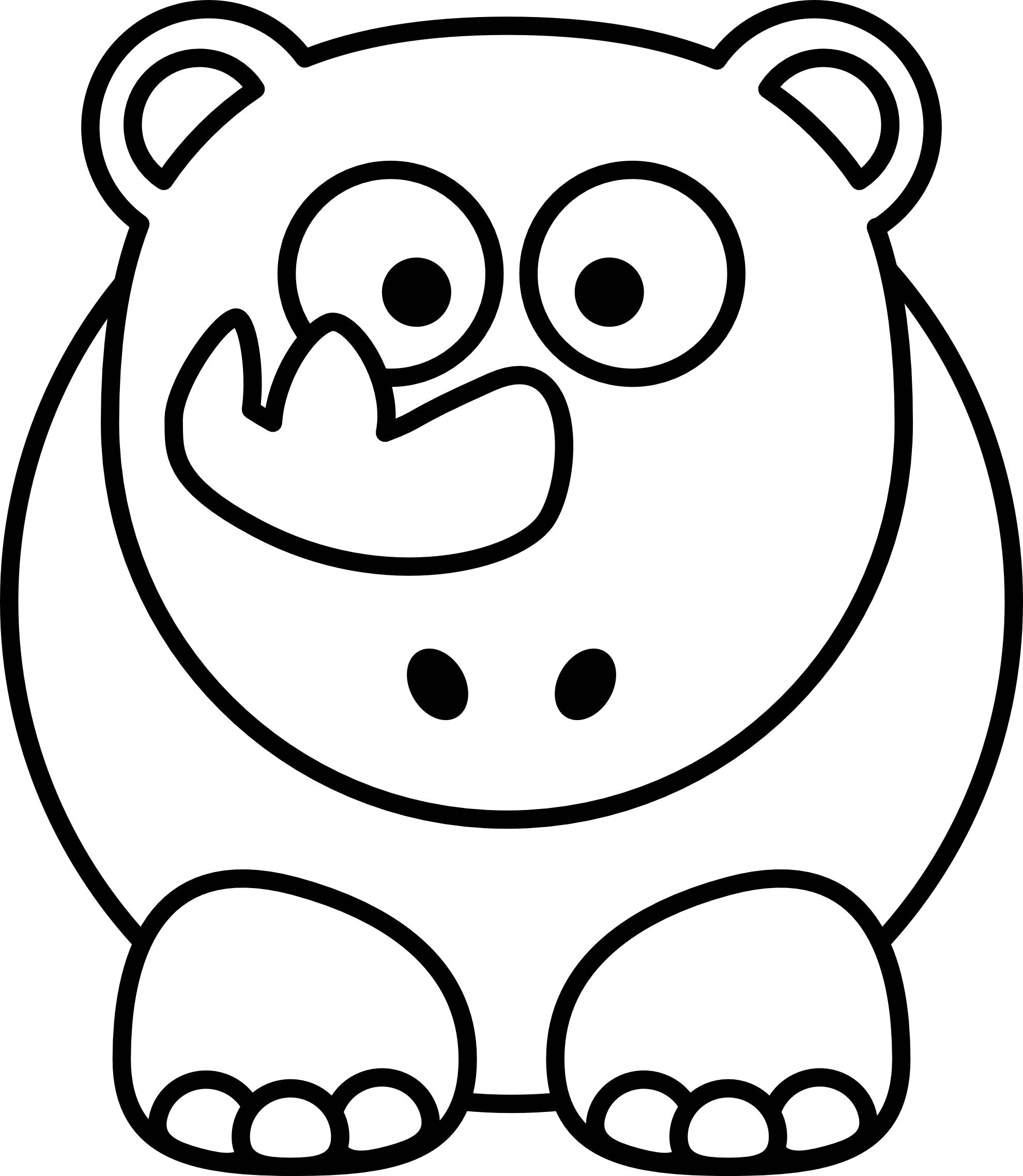 Black And White Animal Clipart