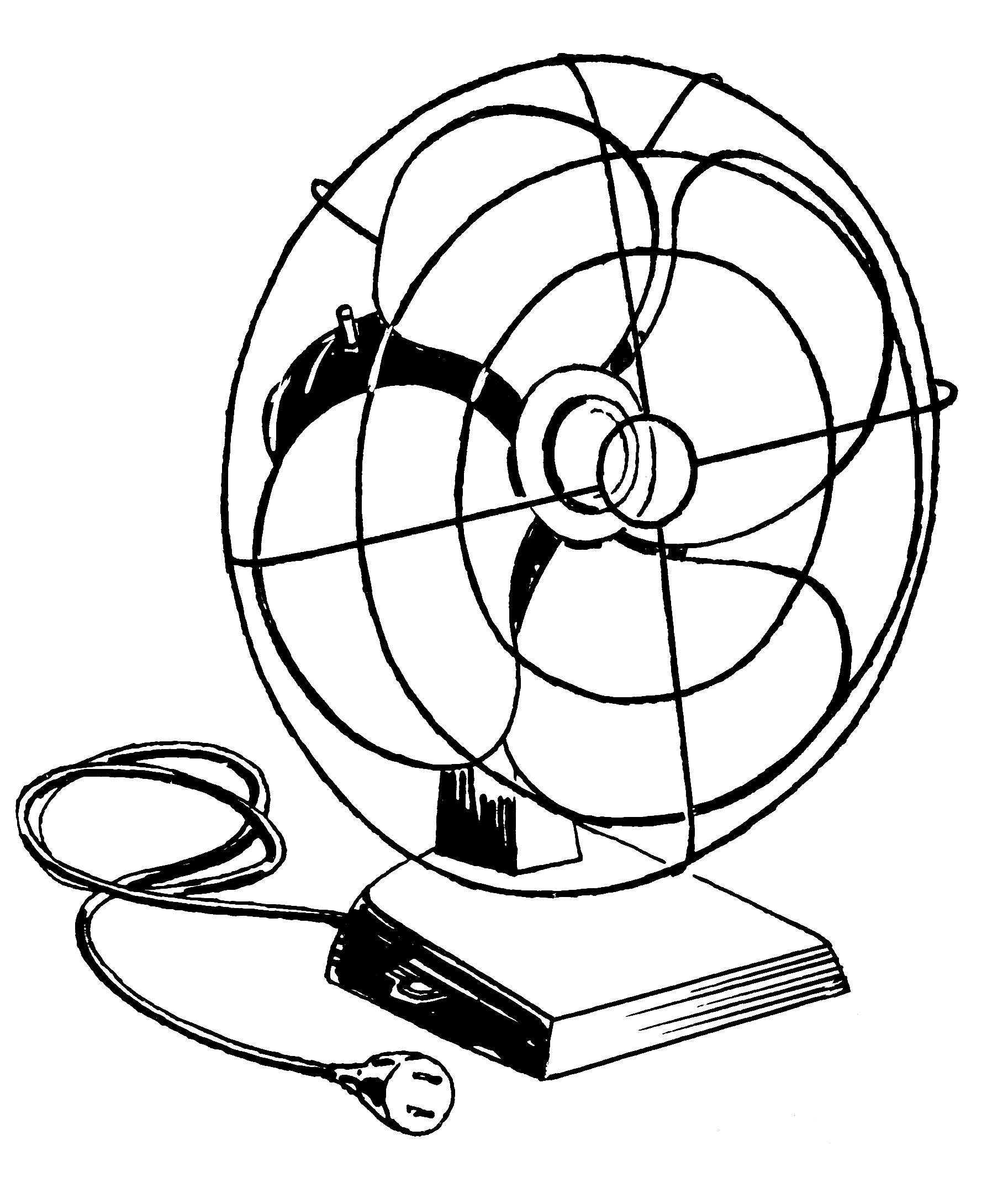 Free Coloring Pages Of Electric Fan, Download Free Clip