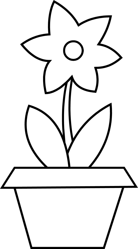 Free Flower Pot Outline, Download Free Clip Art, Free Clip
