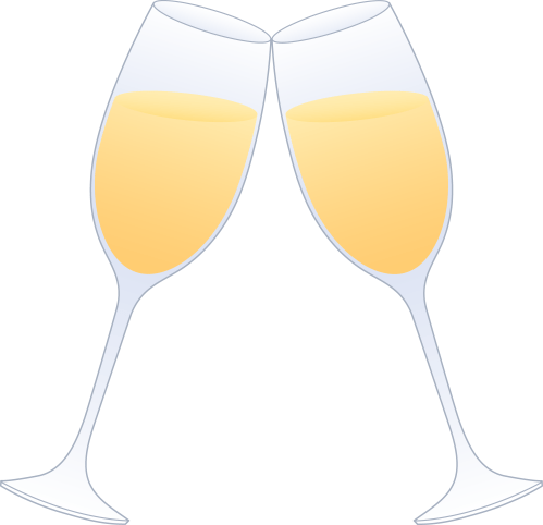small resolution of glasses of champagne clinking free clip art