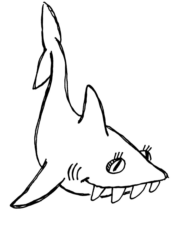 Shark Clipart Black And White : shark, clipart, black, white, Black, White, Shark, Pictures,, Download, Clipart, Library