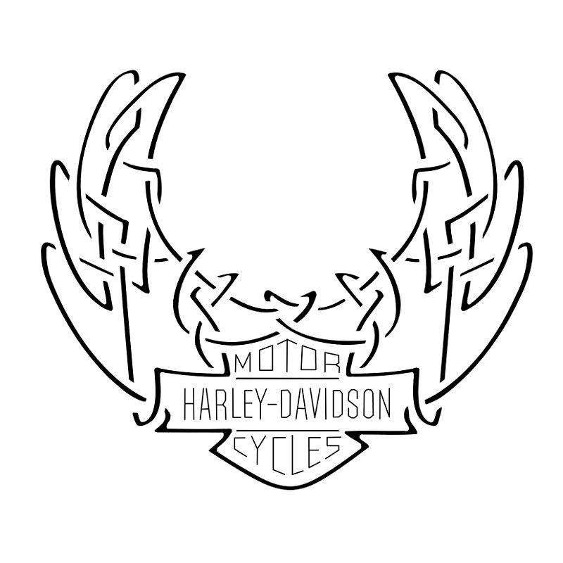 Free Harley Davidson Logo Stencil, Download Free Clip Art