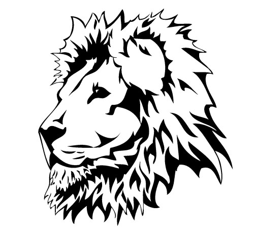 small resolution of lion head art clipart library