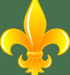 shiny golden fleur de lis free clip art [ 4501 x 5429 Pixel ]