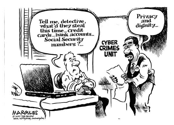 Cyber bullying by Political Cartoonist Jimmy Margulies