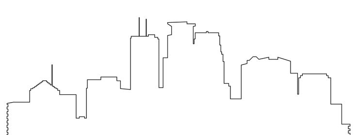 Simple Chicago Skyline Tattoo