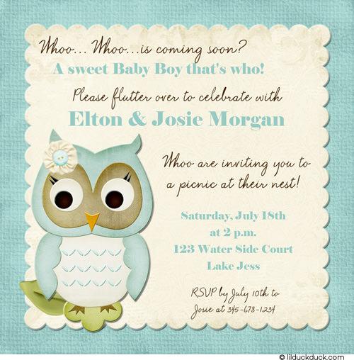 Baby Owl Shower Soft Boy Clip Art Library