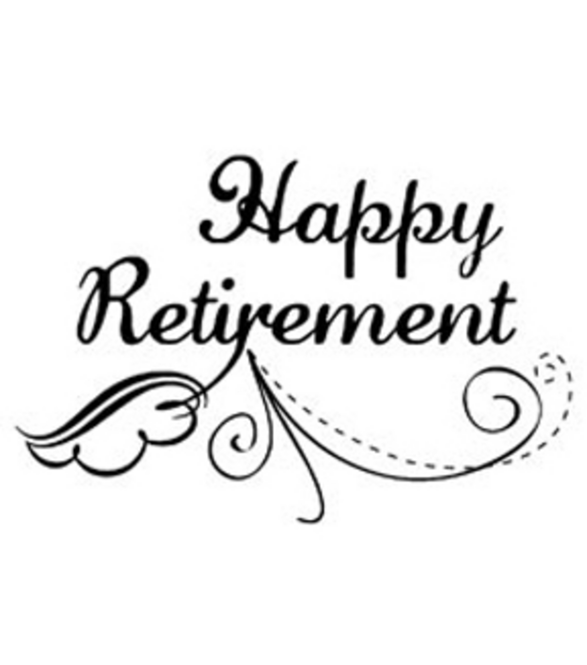 Magenta Cling Stamps Happy Retirement